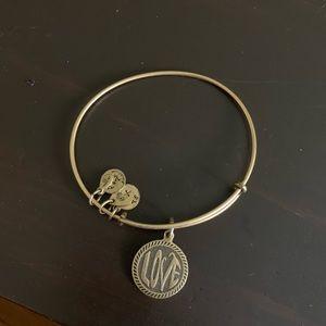 """love"" Alex and ani bracelet"